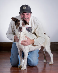 Art Whitton and his faithful dog, Buck